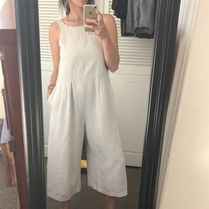 SOLD First Rite SS16 Crop Pantsuit Neutral